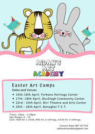Aidan's Art Academy – Easter Art Camps