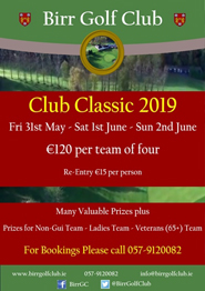 Birr Golf Club - Club Classic 2019