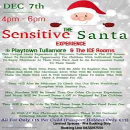 Sensitive Santa Experience @ Playtown Tullamore & The ICE Rooms