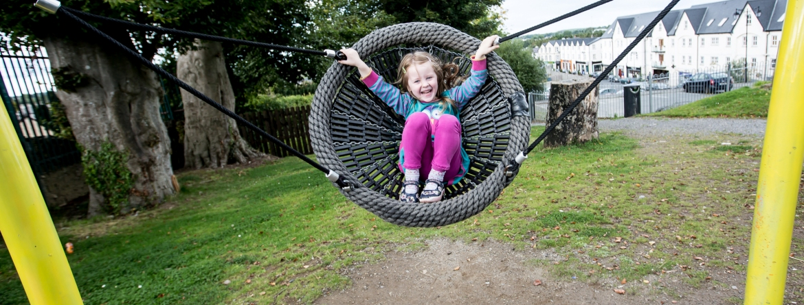 Edenderry Playground swing
