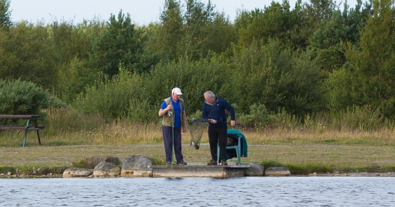 Fishing on the lake 2 men