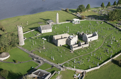 Aerial View Clonmacnoise
