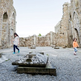 Kids in Circle at Clonmacnoise