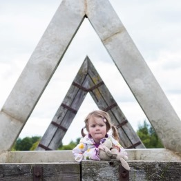 Lough Boora Triangles with Child